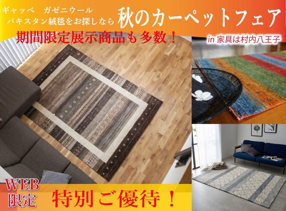 ラグ・カーペットをお探しなら、手織り絨毯から機能性カーペット等豊富な展示量を誇る「家具は村内八王子」で!