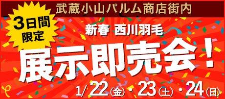 新春 西川羽毛展示即売会!
