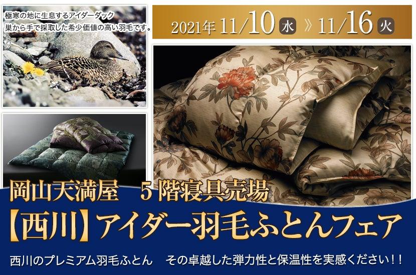 【西川】アイダー羽毛ふとんフェア