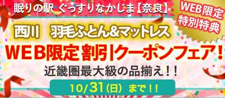 WEB限定 西川 羽毛ふとん&マットレス 割引クーポンフェア!