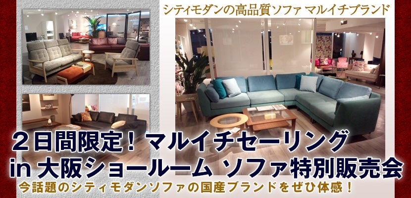 2日間限定!マルイチセーリング in 大阪ショールーム  ソファ特別販売会