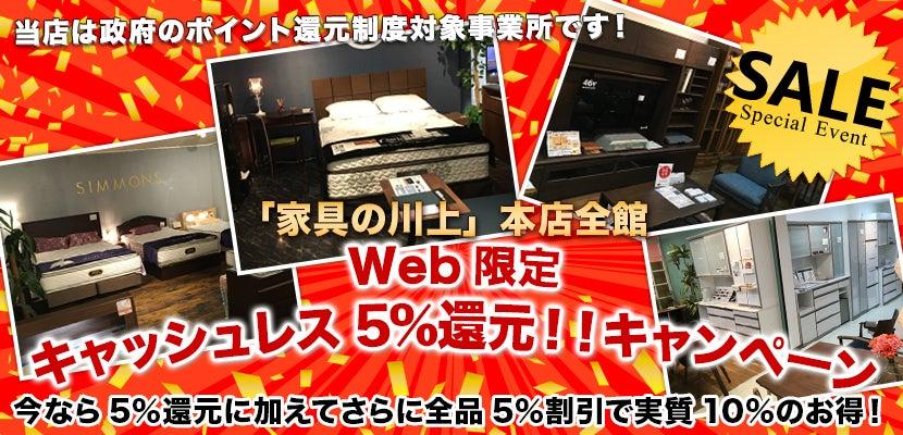 Web限定キャッシュレス5%還元!!キャンペーン